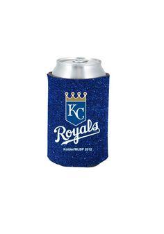 Kansas City Royals (KC Royals) Glitter Can Koozie  http://www.rallyhouse.com/shop/kansas-city-royals-kansas-city-royals-glitter-can-koozie-15658899  $4.99