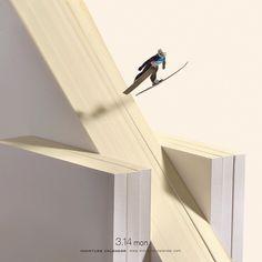 ".3.14 mon ""Ski jumping"" .今日はホワイトデーーーーーーー! .#スキージャンプ #本 .#白銀の世界 #ホワイトデー .ーーーーーーー…(^~^)2B"