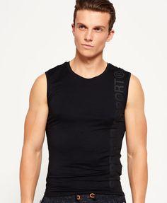 Superdry Gym Sport Runner Vest Top Black