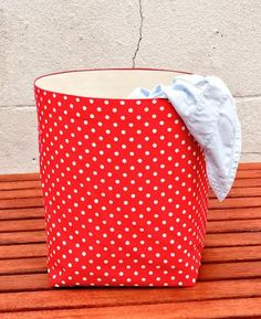 New Red Spotty Tablecloth