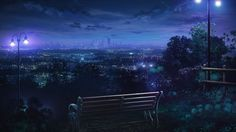 HD wallpaper: brown bench near utility light post digital wallpaper, landscape City Wallpaper, Anime Scenery Wallpaper, 1080p Wallpaper, Scenery Background, Background Images, Casa Anime, Anime Places, Episode Backgrounds, Hd Backgrounds