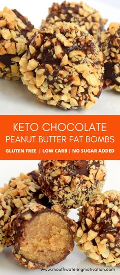 Easy Gluten Free Desserts, Low Calorie Desserts, Keto Dessert Easy, Keto Desserts, Healthy Dessert Recipes, Keto Snacks, Low Carb Recipes, Peanut Butter Fat Bombs, Peanut Butter Desserts