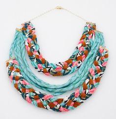 Double Braid Maze Fabric Necklace