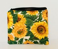 Excited to share the latest addition to my #etsy shop: Sunflower zipped pouch makeup /make up / cosmetic pouch