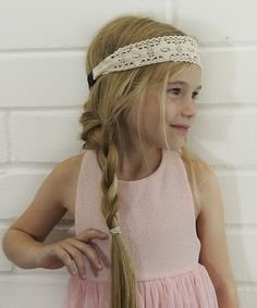 Look what I found on #zulily! Ivory Crocheted Headband by Pretty Cute #zulilyfinds