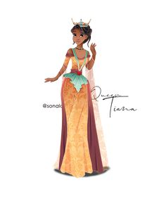 I decided today to make a new series! A series on disney queens. The princesses are no longer, they are ruling kingdoms and it is time they ha. Disney Artwork, Disney Fan Art, Disney Drawings, Disney Nerd, Disney Princess Fashion, Disney Inspired Fashion, Tiana And Naveen, Alternative Disney Princesses, Princess Art
