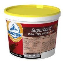 Superbond univerzális mélyalapozó Akryl bázisú, környezetbarát univerzális mélyalapozó.  FŐBB JELLEMZŐI: Vizes hígítású, akryl kötőanyagú, speciális adalékanyagokat tartalmazó színtelen mélyalapozó. A kellősítés során a port leköti, behatol a felület pórusaiba, így azt megerősítve erős, tapadóképes alapfelületet biztosít a rá felhordani kívánt műgyantakötésű termékek számára is. Hígítható: Vízzel (ideális 20°C -os csapvíz). Hígítási arány:  1L SUPERBOND mélyalapozóhoz 0,5L-1L víz
