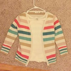 Colorful Cardigan  Colorful comfy cardigan. Gently used. Size medium but runs slightly small especially if you are larger in the chest. Sweaters Cardigans