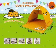 Gudetama Sunshade Tent: Beach