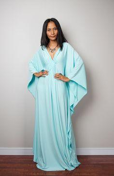 Menthe Maxi robe - caftan Kimono papillon : No.1s Funky élégante Collection