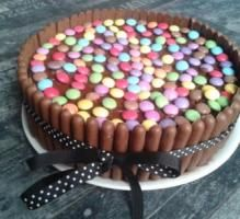 Recette - Gâteau Smarties/Fingers - Proposée par 750 grammes 2 Birthday Cake, It's Your Birthday, Birthday Ideas, Party Cakes, Projects For Kids, Nutella, Tiramisu, Cake Recipes, Recipes