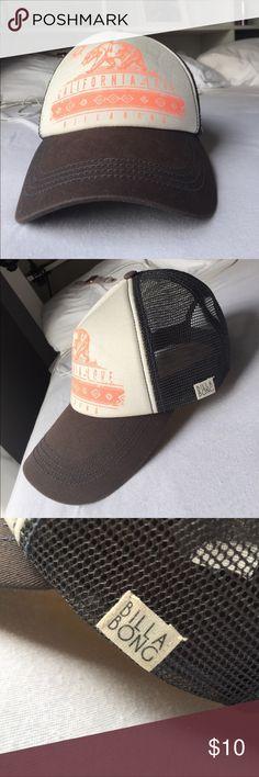 "Billabong Hat Billabong hat with coral print saying ""California Love"". Is adjustable. Never worn. Billabong Accessories Hats"