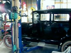 Restoring a friends 1928 model A ford in 2008. (A rare car with a factory overdrive)