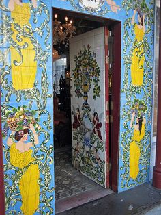 restaurant door Ornamental tiled door and and tile surround of the Columbia Restaurant in the Ybor City area of Tampa Florida. Florida Girl, Old Florida, Naples Florida, Tampa Florida, Florida Travel, Florida Beaches, Clearwater Florida, Kissimmee Florida, Florida Living