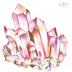 Crystal Energy: Quartz horizontal print by thewheatfield on Etsy, $18.00