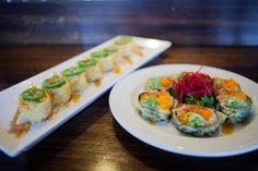 Tootsie Roll & Fiesta Roll #sushi #crunchy #yummy #yensushila #losangeles  http://www.yensushila.com/ www.facebook.com/yensushila