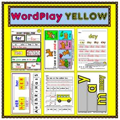 This MEGA-BUNDLE has 16 sight words from the YELLOW LEVEL of the 100 Rainbow Words list! Each sight word has six fun reproducible activities! This title includes nearly 100 black and white student reproducibles PLUS the full color teacher examples for a total of almost 200 pages!