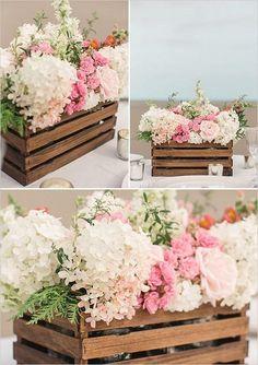 50+ Budget Friendly Rustic Real Wedding Ideas: DIY Paint Stir Stick Flower Box Tutorial