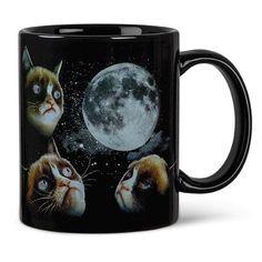 Grumpy Cat Moon Heat Sensitive Color Changing Coffee Mug