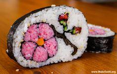 Flower Sushi Roll Art