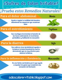 Los remedios naturales que te ayudarán a aliviar cada malestar del Colon Irritable #Remedios #MedicinaNatural #Colitis #Colon