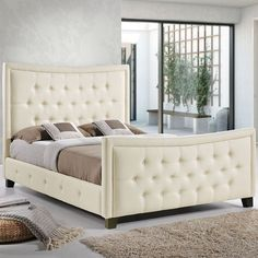 - Claire Queen Bed in Ivory
