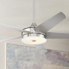 A sleek and contemporary ceiling fan design from the Possini Euro Design collection.