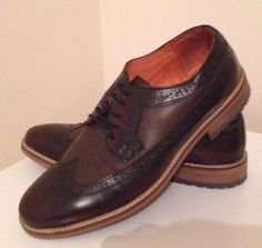 Mens Two Tone Brown Brogues By Burton Size 10 Worn Once Only | eBay