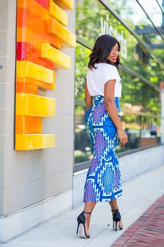 Zuvaa african print skirt and graphic print sincerely jules tee