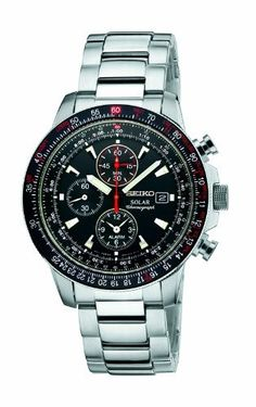 Seiko Men's SSC007 Alarm Chronograph Watch Seiko. $197.37. Solar. Chronograph movement. Rotary slide rule bezel. Water-resistant to 100 M (330 feet). Hardlex crystal. Save 50% Off!