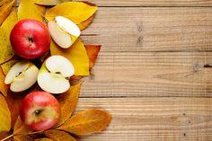 Apples on autumn leaves by windu on Creative Market