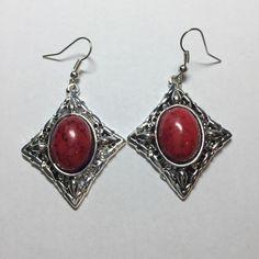 Red and silver earrings Red and silver earrings Jewelry Earrings