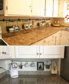 A clutter-free kitchen is a blessing if you believe in healthy eating. Here are best ways to clutter-free kitchen countertops. Country Kitchen, New Kitchen, Kitchen Decor, Kitchen Ideas, Smart Kitchen, Vintage Kitchen, Crazy Kitchen, Gold Kitchen, Kitchen Tables