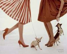 Cecil Beaton for Vogue, 1947  dogs, red skirt