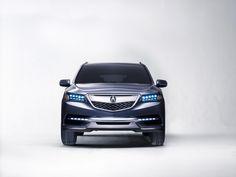 Photographs of the 2014 Acura MDX Prototype. An image gallery of the 2014 Acura MDX Prototype. Acura Mdx Accessories, My Dream Car, Dream Cars, Honda Motors, Acura Tsx, Car Magazine, Luxury Suv, Love Car, Latest Cars