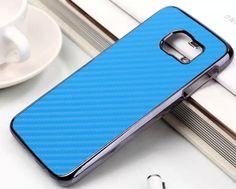 Galaxy S6, S6 Edge - Carbon Fiber Black Border Case in Assorted Colors