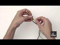 Video tutorial de la técnica de nudo de serpiente para bisutería. www.eltalleronline.com