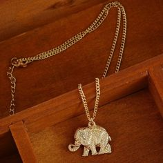 ⭐️New Elephant Necklace⭐️ New still in package. Gold plated necklace elephant theme. Very cute and light weight. Great to wear for any occassion⭐️NEW⭐️ Elephants Jewelry Necklaces