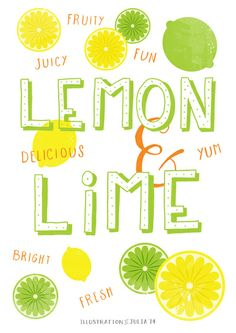 Lemon & Lime Art Print by Julia Broughton