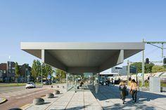 NL architects barneveld centrum train station waiting room netherlands designboom