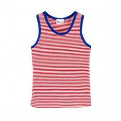Stadtlandkind - Tank Top Marcel Red Stripes by Swiss Organic Label L'Asticot www.stadtlandkind.ch