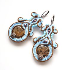 Hey, I found this really awesome Etsy listing at https://www.etsy.com/uk/listing/460033789/baby-blue-brown-earrings-bronzite