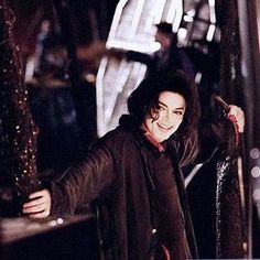 Michael Jackson on the set of Earth Song (1995).