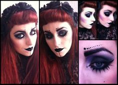 Yesterday was #WorldGothDay, and I loved it.  #goth #gothgirls #dark #black #makeup #gothmakeup