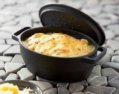 Cassolettes de pommes de terre au saumon fumé en cocotte