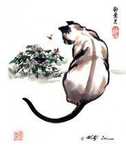 chinese painting cat - Google zoeken