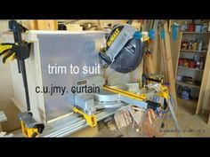 DUST BOX poly curtain for a SCMS - YouTube