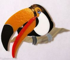 Toucan stained glass mosaic inlay kit. Many designs selling on ebay.