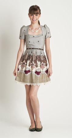 Que liiiiindo!!! Vestido Barrado Caveiras Renda | Vestuário | Antix Store