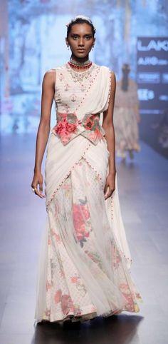 Lakme fashion week summer resort 2017 Sari Trend -Tarun Tahilani Gown Sari